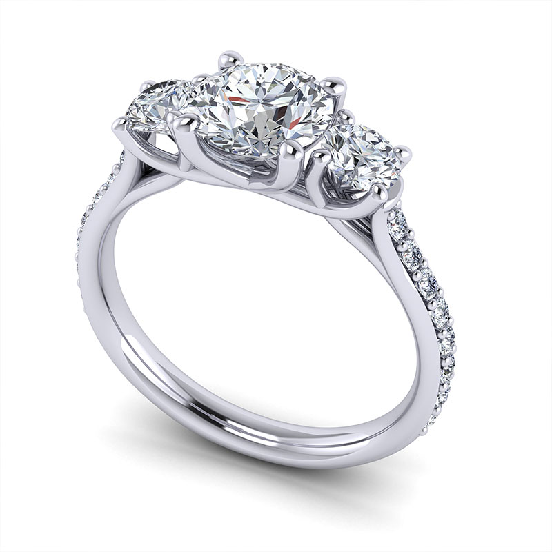 Custom Design Diamond Engagement Rings Wedding Rings
